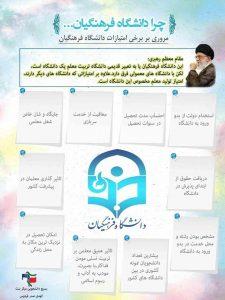 امتیارات دانشگاه فرهنگیان